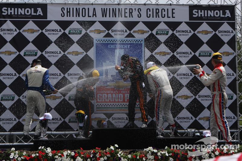 DP Podium: racewinnaars Max Angelelli, Jordan Taylor, 2e plaats Christian Fittipaldi, Joao Barbosa, 3e plaats Enzo Potolicchio, Ryan Dalziel