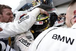 Timo Glock, BMW Team MTEK BMW M3 DTM celebrates third place