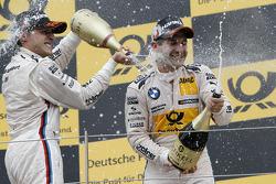 Race winner Bruno Spengler, BMW Team Schnitzer BMW M3 DTM, third place Timo Glock, BMW Team MTEK BMW M3 DTM