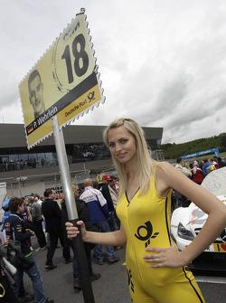 Gridgirl of Pascal Wehrlein, Mercedes AMG DTM-Team Mücke DTM Mercedes AMG C-Coupe