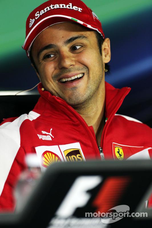 Felipe Massa, Ferrari, na Conferência de Imprensa FIA