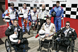 Marino Franchitti with KartForce injured troops