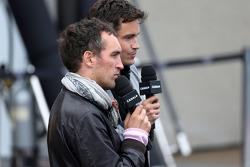 Thomas Senecal, Canal+ F1 Chief Editor and TV Presenter and Franck Montagny, Canal+ TV Presenter