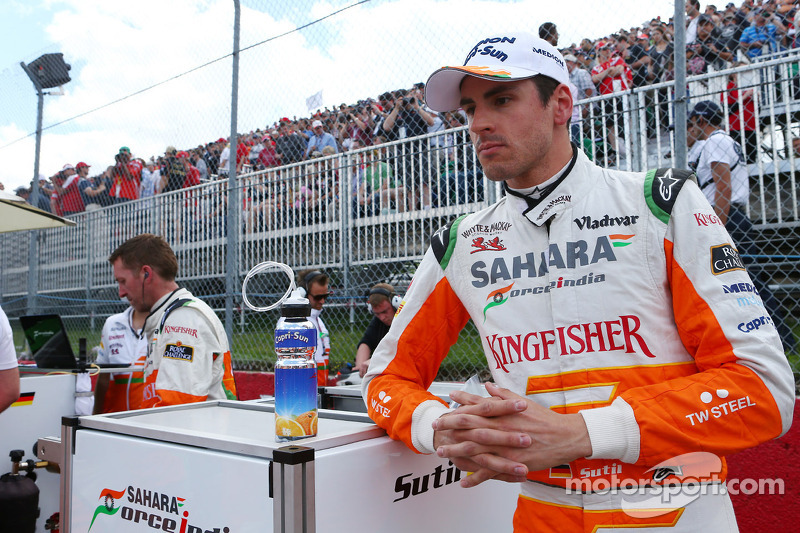 Adrian Sutil, Sahara Force India F1 op de grid