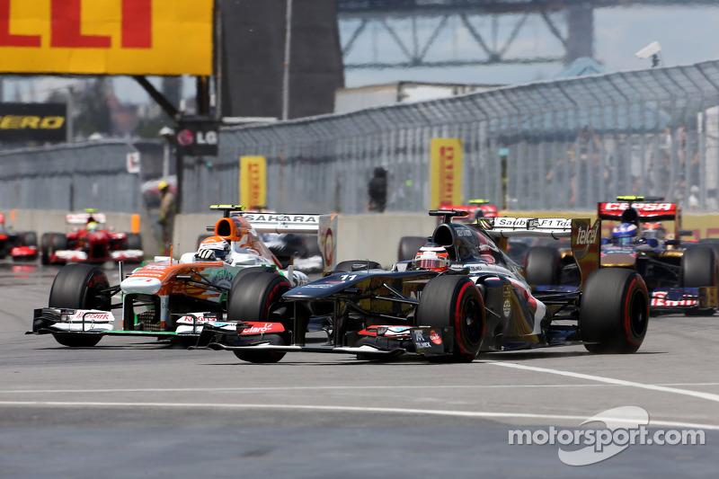 Adrian Sutil, Sahara Force India F1 Team en Nico Hulkenberg, Sauber F1 Team Formula One team