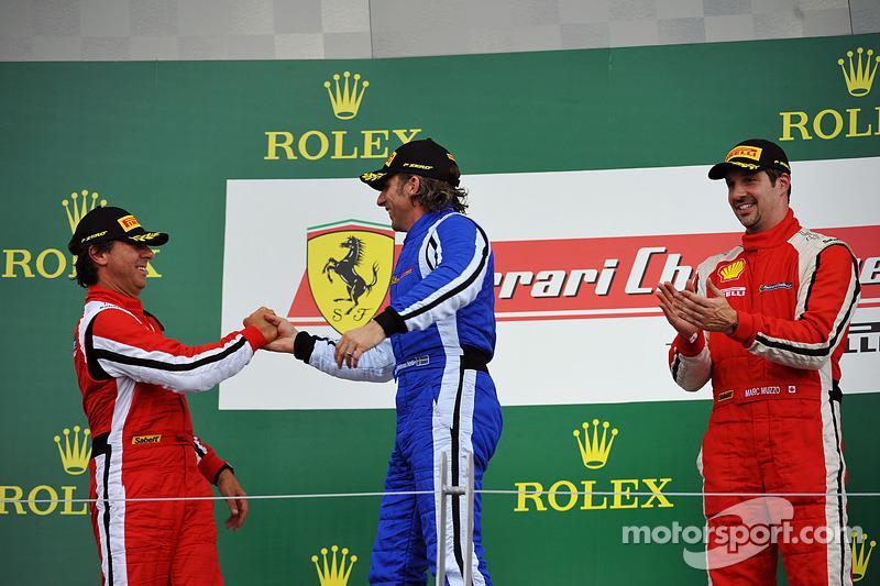 Coppa Shell podium: winnaar Henrik Hedman, 2e plaats Ugo Colombo, 3e plaats Marc Muzzo