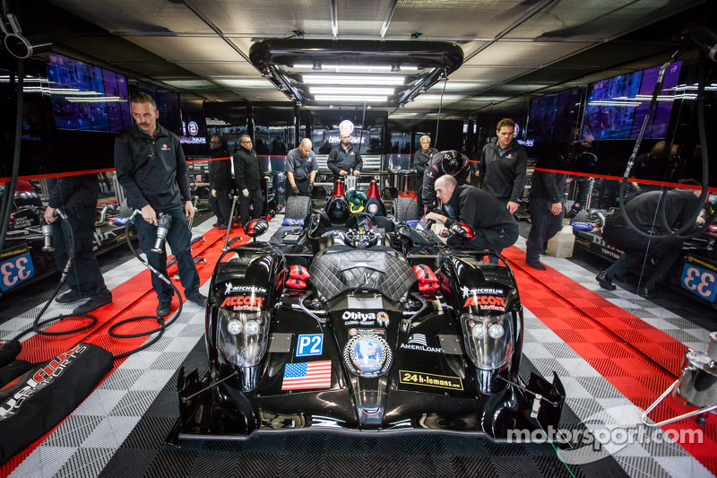 Level 5 Motorsports garage area