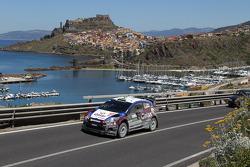 Elfyn Evans en Giovanni Bernacchini, Ford Fiesta WRC