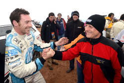Simon Pagenaud celebrates his finish