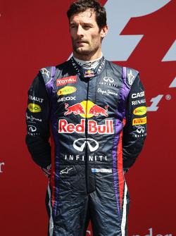 Mark Webber Red Bull Racing op het podium