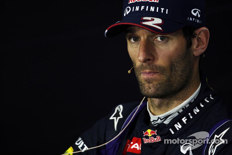 Mark Webber Red Bull Racing in the FIA Press Conference