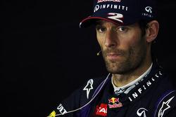 Mark Webber Red Bull Racing bij de FIA-persconferentie