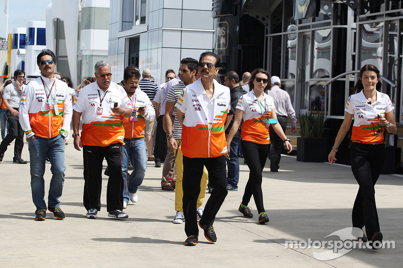 Subrata Roy Sahara Sahara Chairman with the Sahara Force India F1 Team