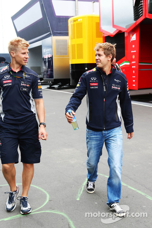 Heikki Huovinen, Personal Trainer, com o Sebastian Vettel, Red Bull Racing