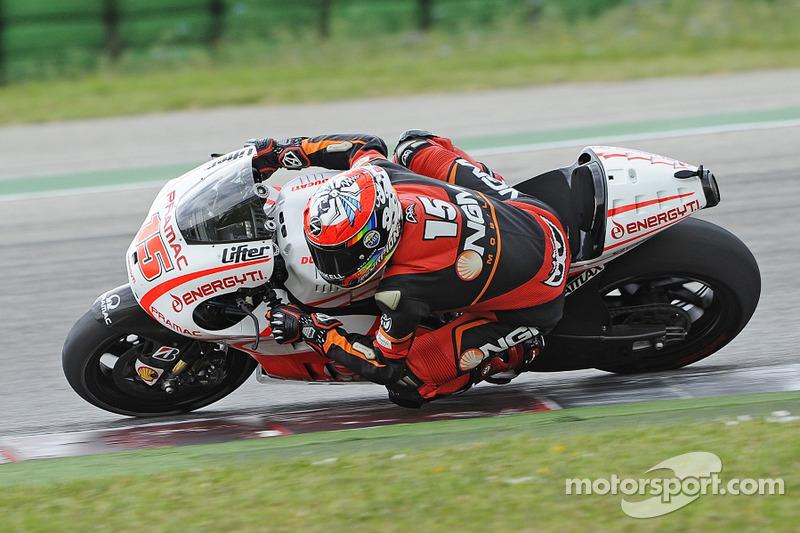 Alex de Angelis test de Pramac Ducati