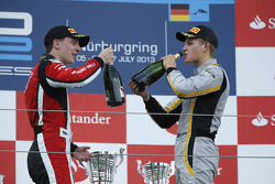 Podium: race winner Marcus Ericsson, second place James Calado