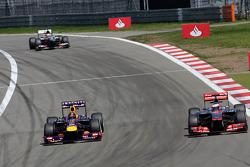 Sebastian Vettel, Red Bull Racing et Jenson Button, McLaren Mercedes