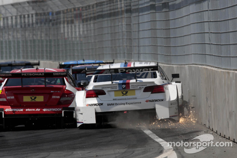 Crash van Martin Tomczyk, BMW Team RMG BMW M3 DTM