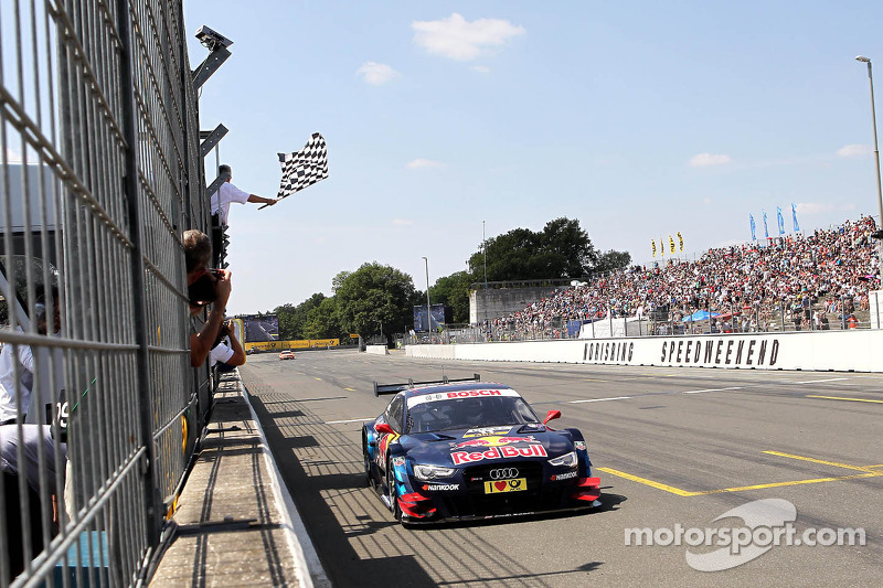 Mattias Ekström, Audi Sport Team Abt Sportsline, Audi A5 DTM takes the win