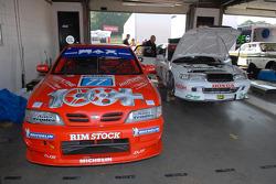 Ex Matt Neal 1998 Nissan Primera  and an Ex David Leslie 1996 Honda Accord Super Touring Cars