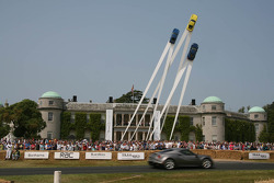Exposition de Porsche 911 devant Goodwood House