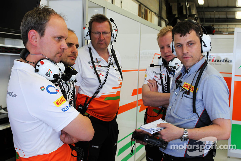 Pirelli Tyre Engineer with the Sahara Force India F1 Team