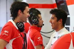 Marc Hynes, Marussia F1 Team Driver Coach with Rodolfo Gonzalez, Marussia F1 Team Reserve Driver