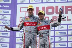 LM P2 podium: winners Mathias Beche, Pierre Thiriet