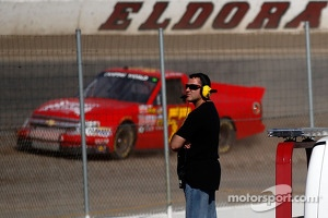 Tony Stewart looks on