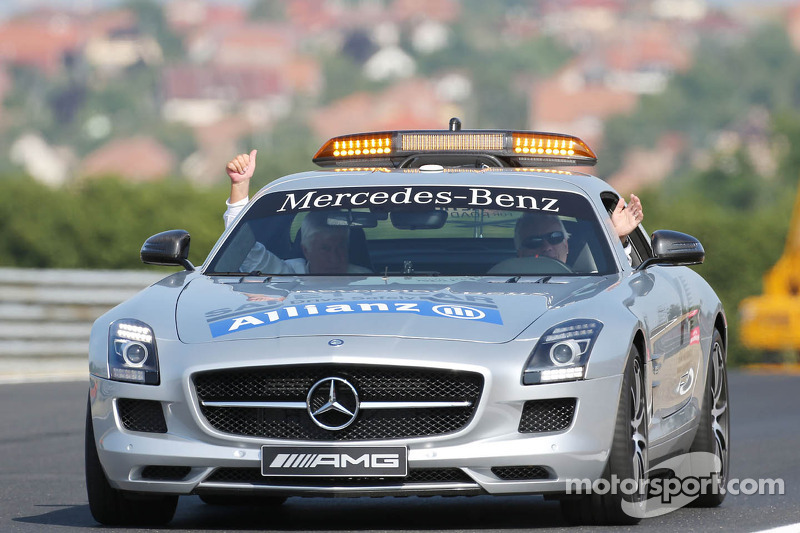 (L to R): Herbie Blash, FIA Delegate and Charlie Whiting, FIA Delegate in the FIA Safety Car