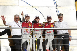 Champion Podium: Champion René Rast, Audi Sport Team Rosberg, Audi RS 5 DTM, second place Mattias Ekström, Audi Sport Team Abt Sportsline, Audi A5 DTM, third place Jamie Green, Audi Sport Team Rosberg, Audi RS 5 DTM, Dieter Gass, Head of DTM Audi Sport and Arno Zensen, Audi Sport Team Rosberg