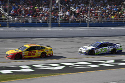 Joey Logano, Team Penske Ford and Ty Dillon, Germain Racing Chevrolet