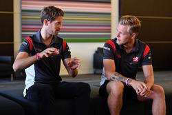 Romain Grosjean, Haas F1 ve Kevin Magnussen, Haas F1