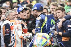 Race winner Marc Marquez, Repsol Honda Team, second place Valentino Rossi, Yamaha Factory Racing