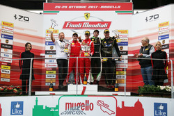 Podyum: Yarış galibi #11 Formula Racing Ferrari 488: Nicklas Nielsen, 2. #8 Octane 126 Ferrari 488: Fabio Leimer, #91 Rossocorsa Ferrari 488: Philipp Baron