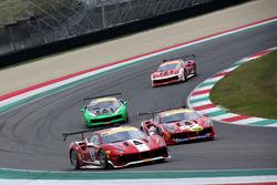 #360 Formula Racing Ferrari 488: Johnny Laursen, #347 Charles Pozzi Ferrari 488: Henry Hassid