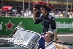 Brendon Hartley, Scuderia Toro Rosso on the drivers parade