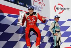 Podio: il vincitore di gara 1 Pepe Oriola, Lukoil Craft-Bamboo Racing, SEAT León TCR