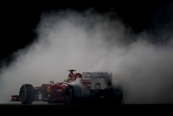 Felipe Massa, Ferrari F2012, spins after battling for position with Mark Webber, Red Bull Racing RB8