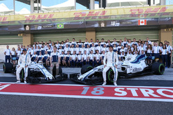 Felipe Massa, Williams, Paul di Resta, Williams and Lance Stroll, Williams at the Williams team photo