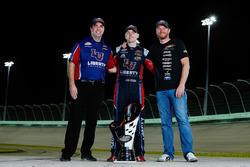 2017 champion William Byron, JR Motorsports Chevrolet, team owner Dale Earnhardt Jr., crew chief David Elenz