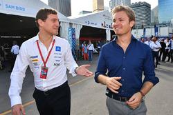 Nico Rosberg in de paddock