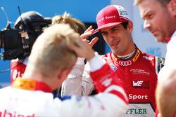 Lucas di Grassi, Audi Sport ABT Schaeffler, ganador de la pole Felix Rosenqvist, Mahindra Racing