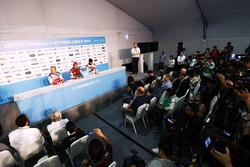 Felix Rosenqvist, Mahindra Racing, Daniel Abt, Audi Sport ABT Schaeffler, Edoardo Mortara, Venturi Formula E, in the press conference