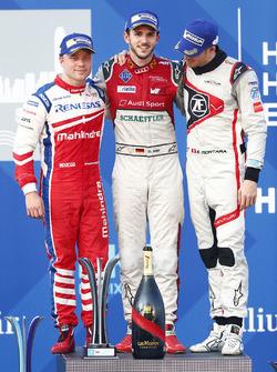 Podyum: Yarış galibi Daniel Abt, Audi Sport ABT Schaeffler, 2. Felix Rosenqvist, Mahindra Racing, 3. Edoardo Mortara, Venturi Formula E