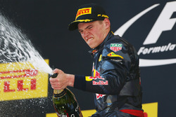 Podium: winnaar Max Verstappen, Red Bull Racing