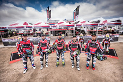 #20 Monster Energy Honda Team Honda: Рики Брабек, #14 Monster Energy Honda Team Honda: Мишель Метж, #5 Monster Energy Honda Team Honda: Хоан Барреда, #6 Monster Energy Honda Team Honda: Паулу Гонсалвеш, #47 Monster Energy Honda Team: Кевин Бенавидес