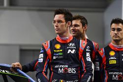 Thierry Neuville, Andreas Mikkelsen en Dani Sordo, Hyundai Motorsport