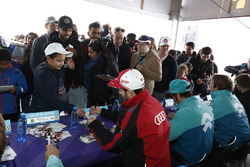 Daniel Abt, Audi Sport ABT Schaeffler, signs autographs for fans