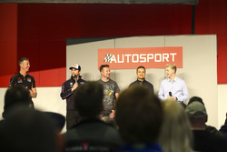 BTCC champions Matt Neal, Andrew Jordan, Gordon Shedden, Colin Turkington and Ashley Sutton talk to Henry Hope-Frost on the Autosport Stage